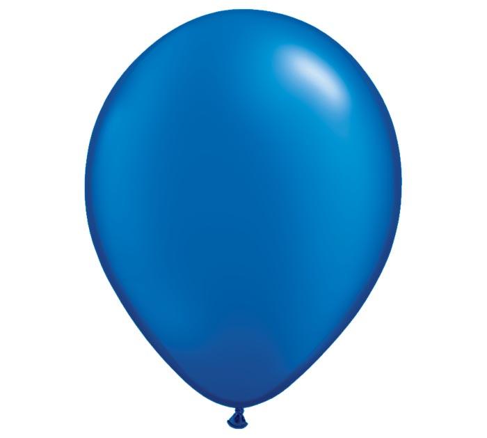 "11"" QUALATE PEARL SAPPHIRE BLUE LATEX"