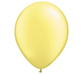 "16"" QUALATEX PEARL LEMON CHIFFON LATEX"