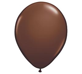 "16"" QUALATEX CHOCOLATE BROWN LATEX"