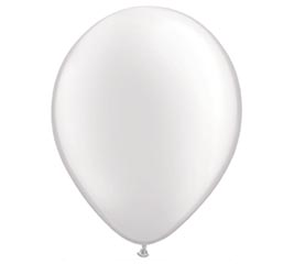 "16"" QUALATEX PEARL WHITE LATEX"