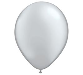 "16"" QUALATEX METALLIC SILVER LATEX"