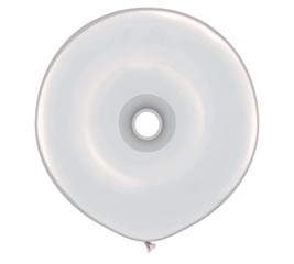 "16""GEO DONUT DIAMOND CLEAR BALLOON"