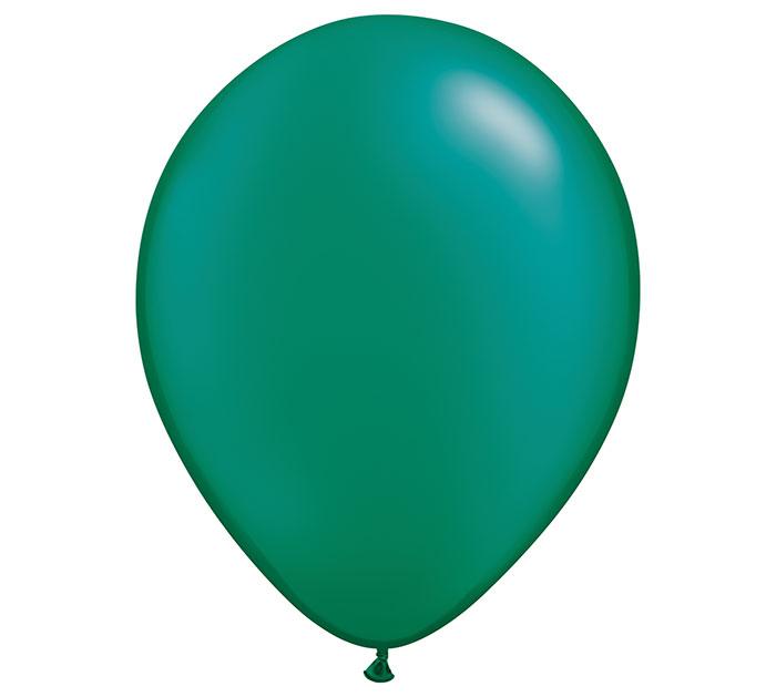 """16"""" QUALATEX PEARL EMERALD GREEN LATEX"""