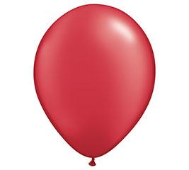 "16"" QUALATEX PEARL RUBY RED LATEX"