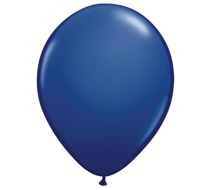 "11"" QUALATEX NAVY LATEX BALLOON"