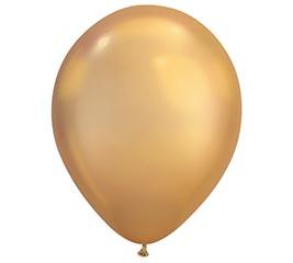 "11"" QUALATEX CHROME GOLD 25CT"