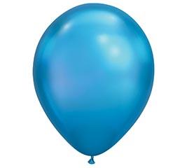 "11"" QUALATEX CHROME BLUE 25CT"