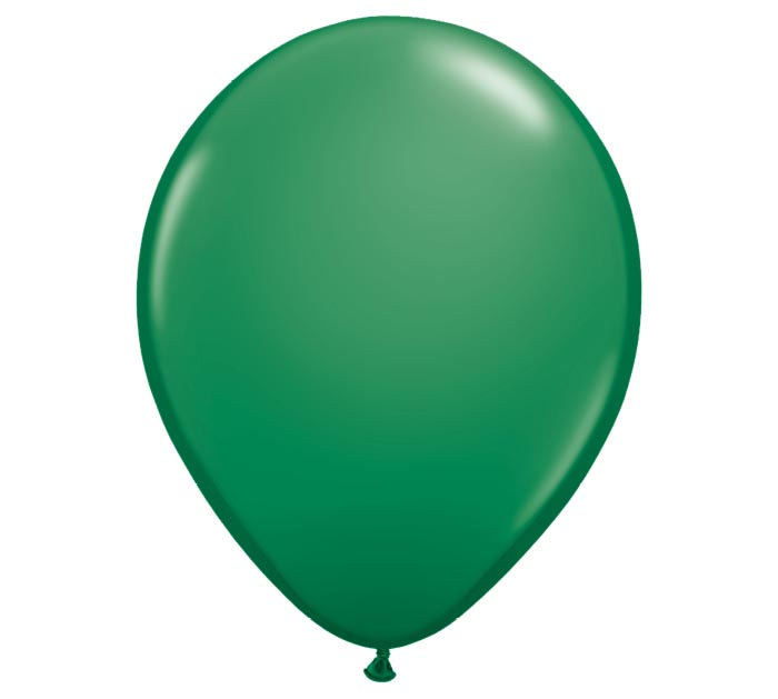 "11"" QUALATEX STANDARD GREEN LATEX"