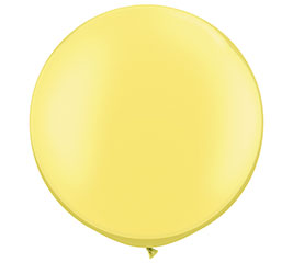 "30"" QUALATEX PEARL LEMON CHIFFON LATEX"