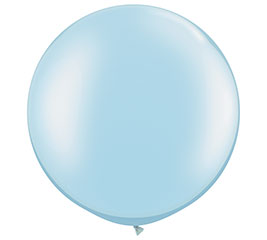 "30"" QUALATEX PEARL LIGHT BLUE LATEX"