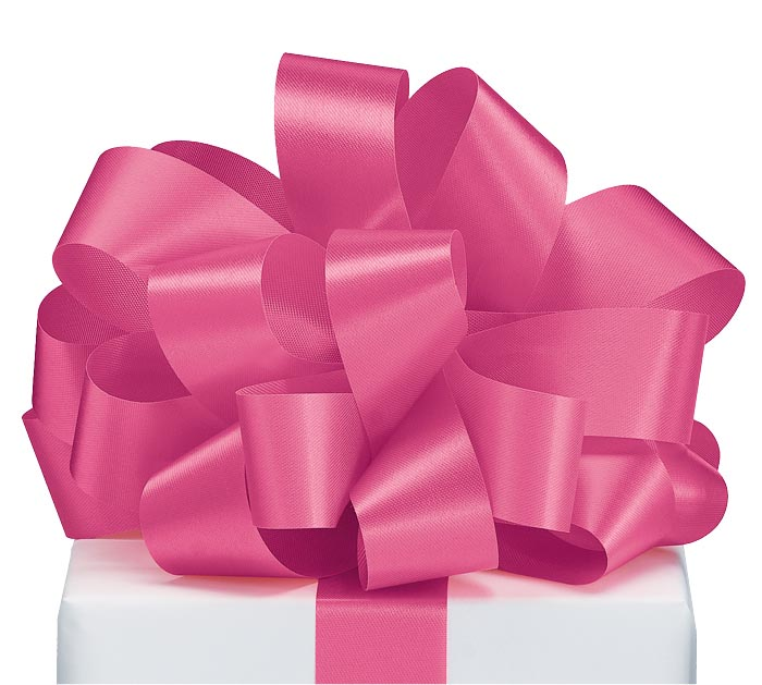 #9 NEW HOT PINK SATIN ACETATE RIBBON
