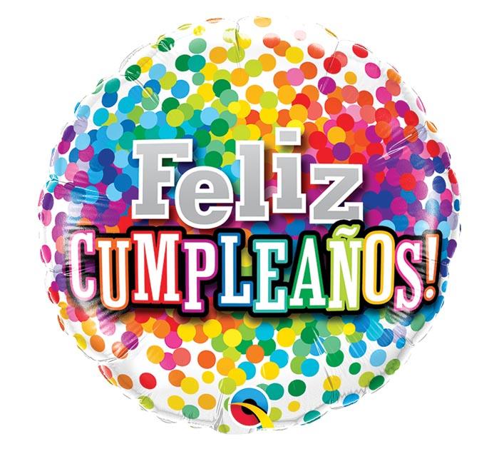 "18"" PKG FELIZ CUMPLEANOS SPANISH BALLOON"