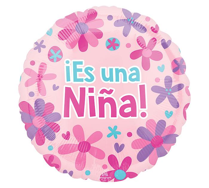"18""PKG SPA ES UNA NINA FLOWERS"
