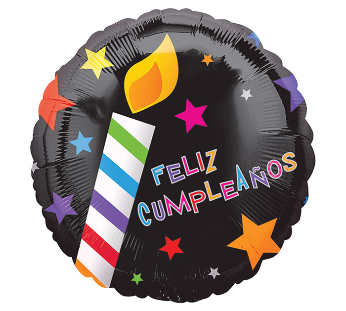 "18""PKG SPA FELIZ CUMPLEANOS CANDLES"