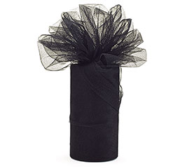 BLACK TULLE DIAMOND NET